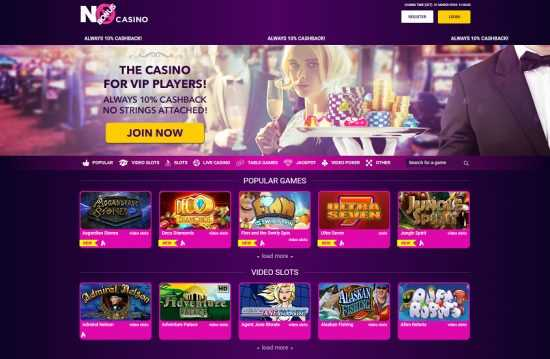 No Bonus Casino Homepage