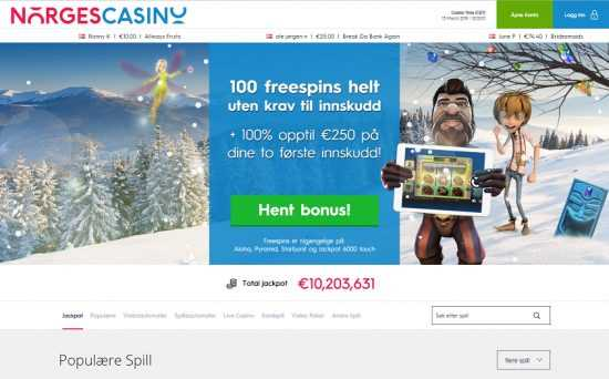Norges Casino Homepage