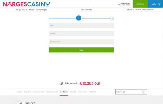 Norges Casino Register
