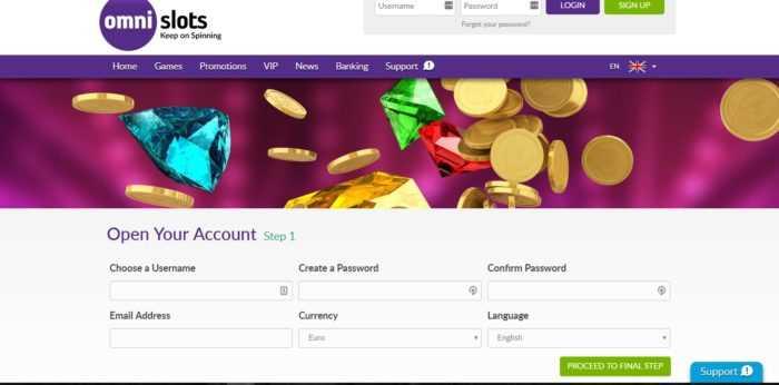 Omni Slots Register