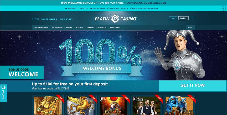 Platin Casino Home