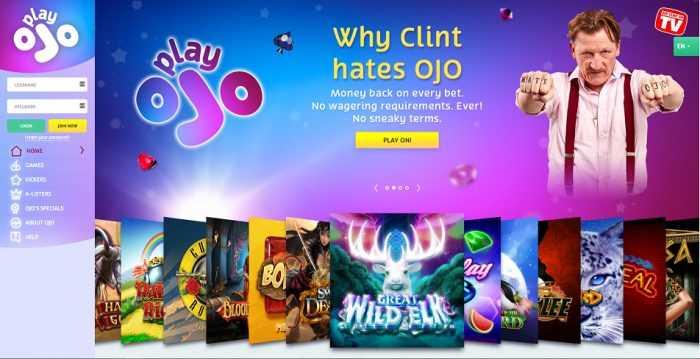 PlayOJO Homepage
