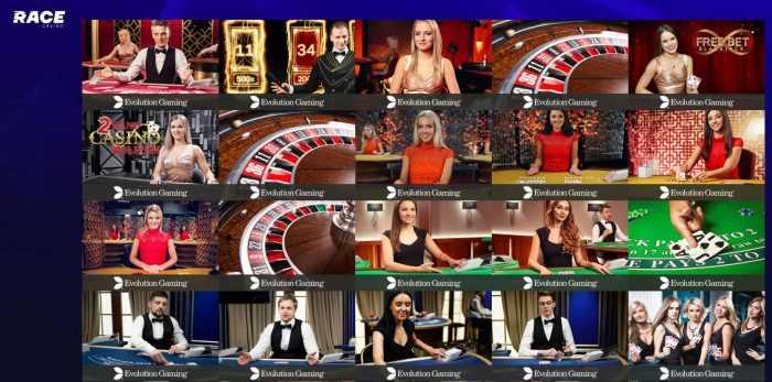 Race Casino Live Casino
