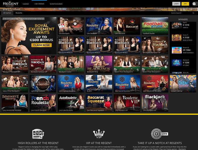 Regent Casino Livedealer