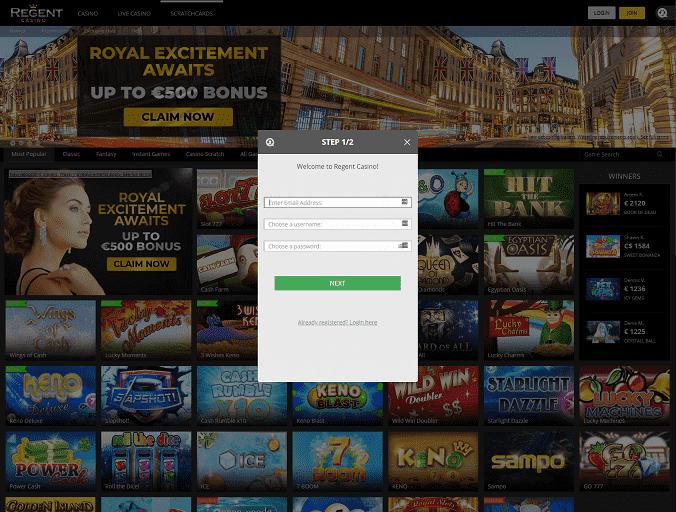 Regent Casino Registration