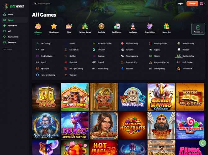 Slothunter Casino Games