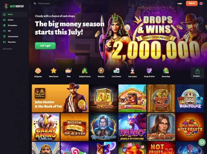 Slothunter Casino Homepage