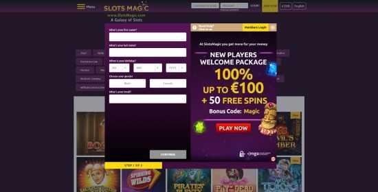 SlotsMagic Register