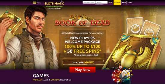 SlotsMagic Homepage