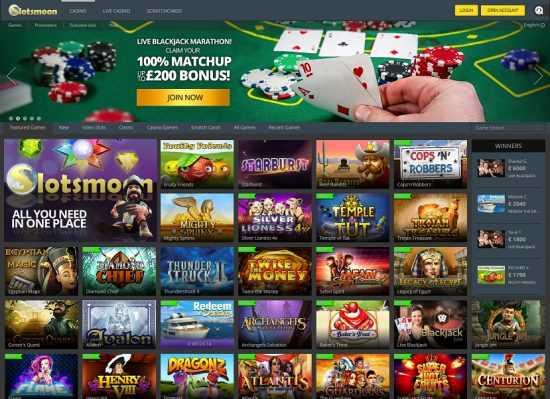 Slotsmoon Homepage