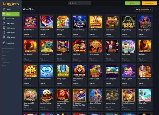 Tangiers Casino Games