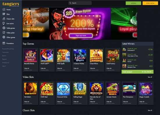 Tangiers Casino Homepage