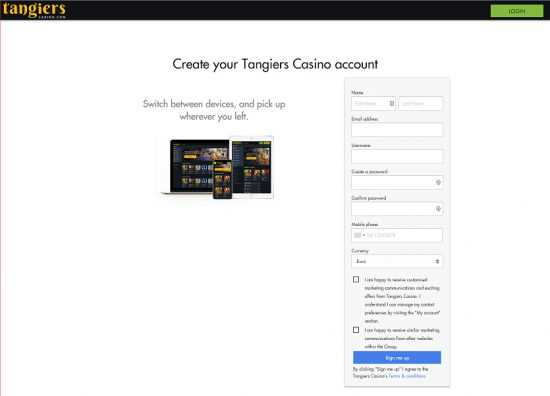 Tangiers Casino Register