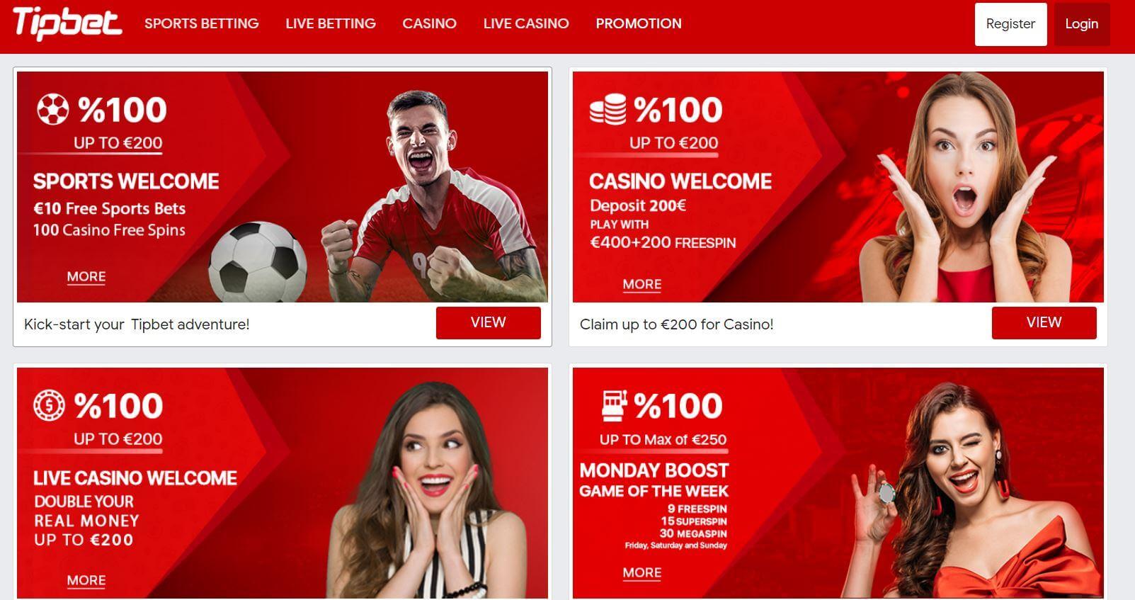 Tipbet Casino Promotions