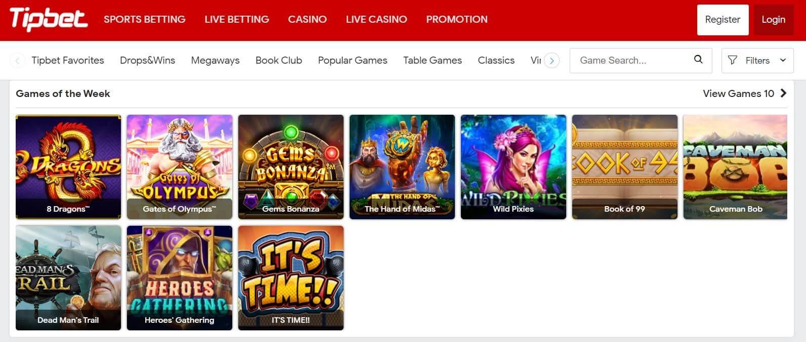 Tipbet Casino Slots