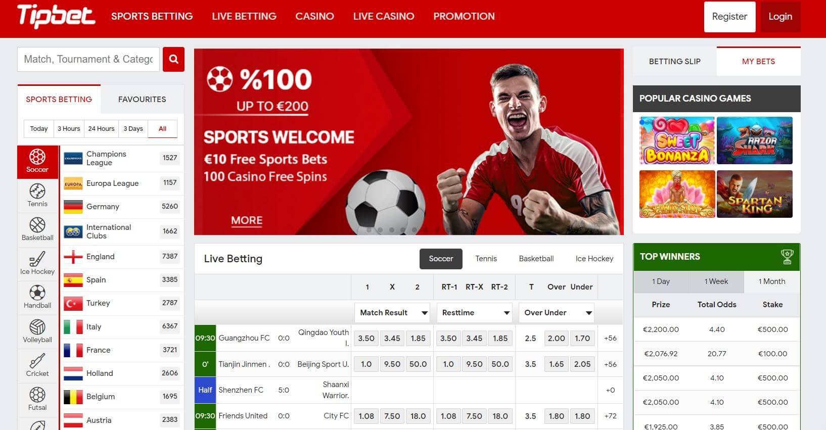 Tipbet Casino Sportsbook