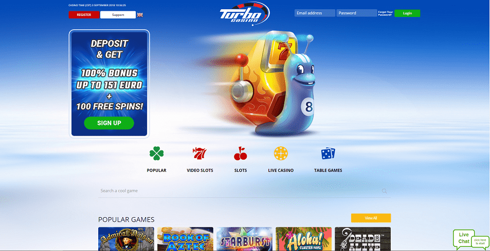 Turbo Casino Home