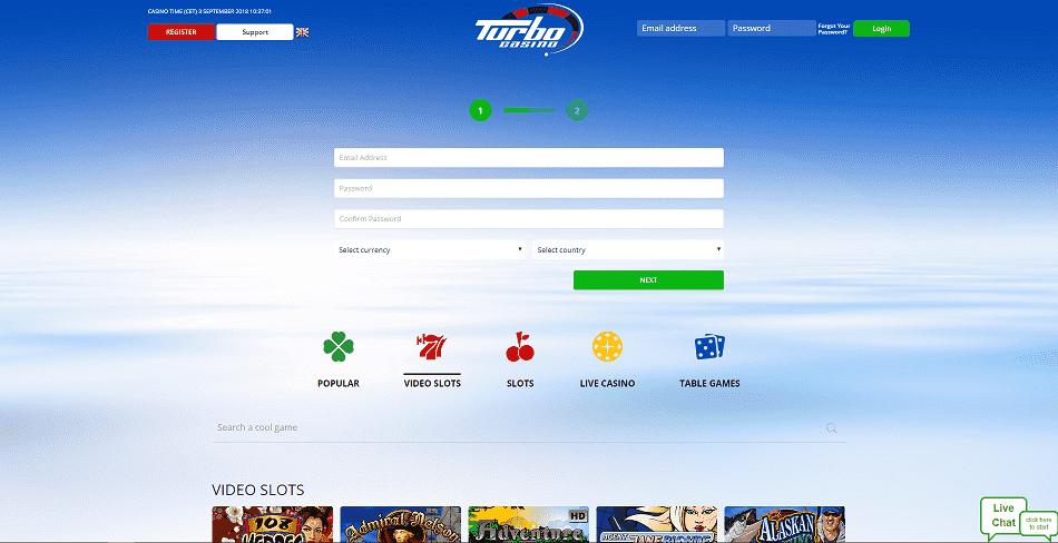 Turbo Casino Register