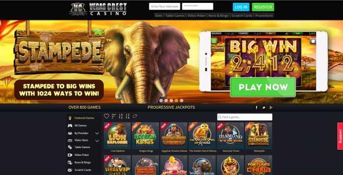 Vegas Crest Homepage