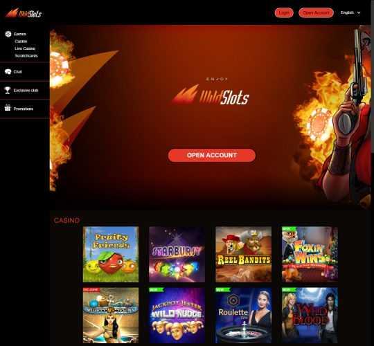 Wild Slots Homepage