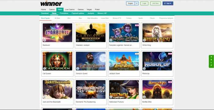 Winner Casino Games
