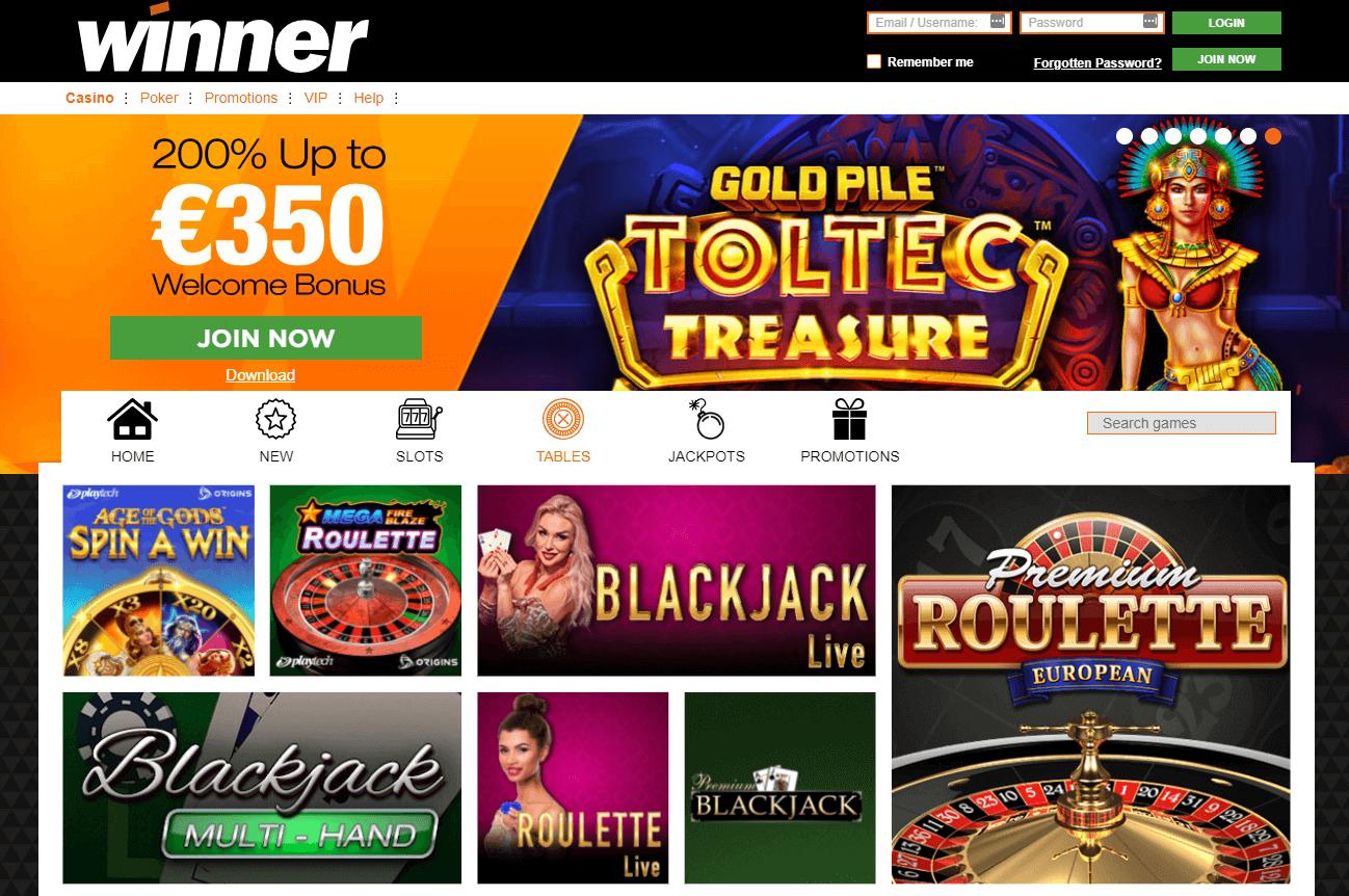 Winner Casino Live Games