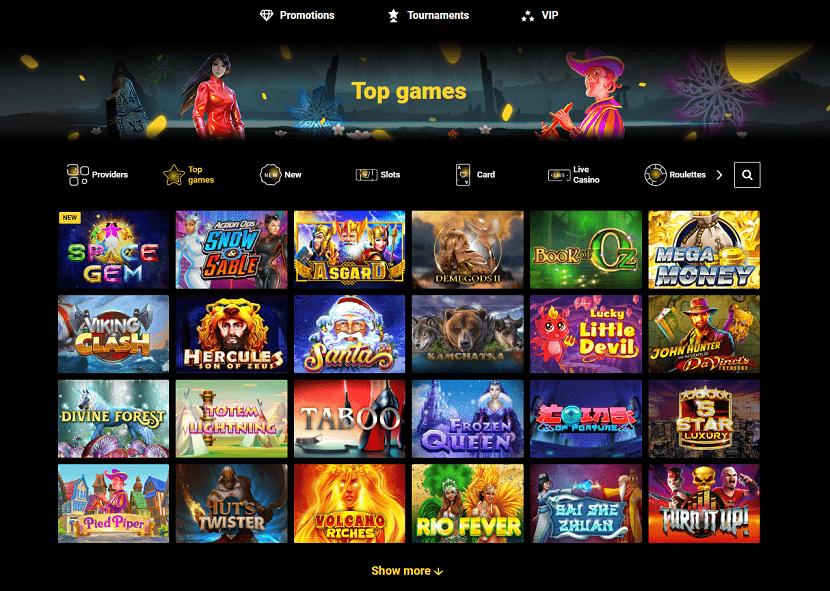 Zet Casino Games