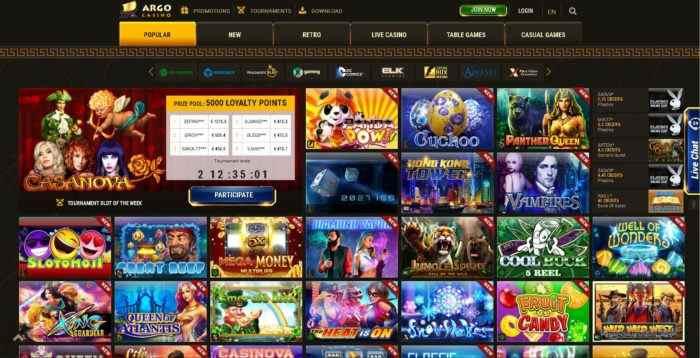 Argo Casino Games