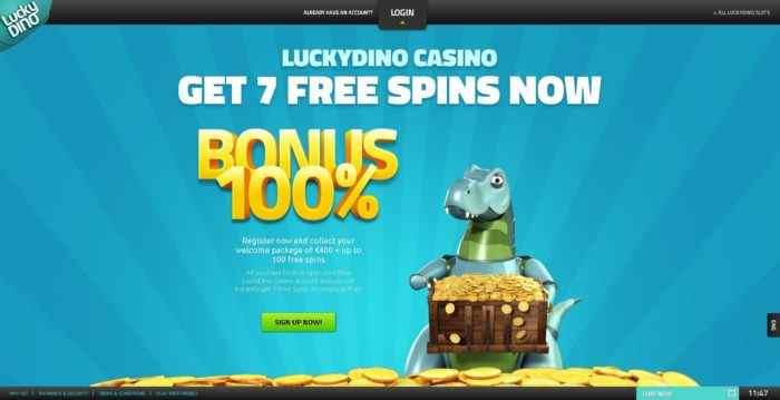 Lucky Dino Homepage