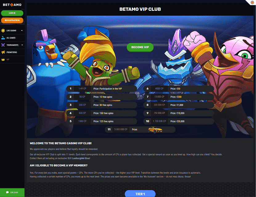 Betamo VIP Club