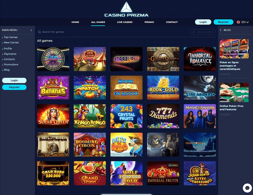 Casino Prizma Games