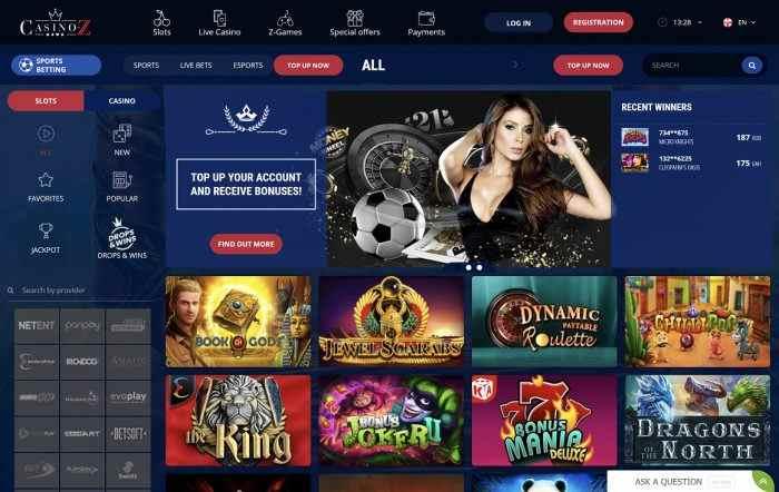Casino Z Homepage