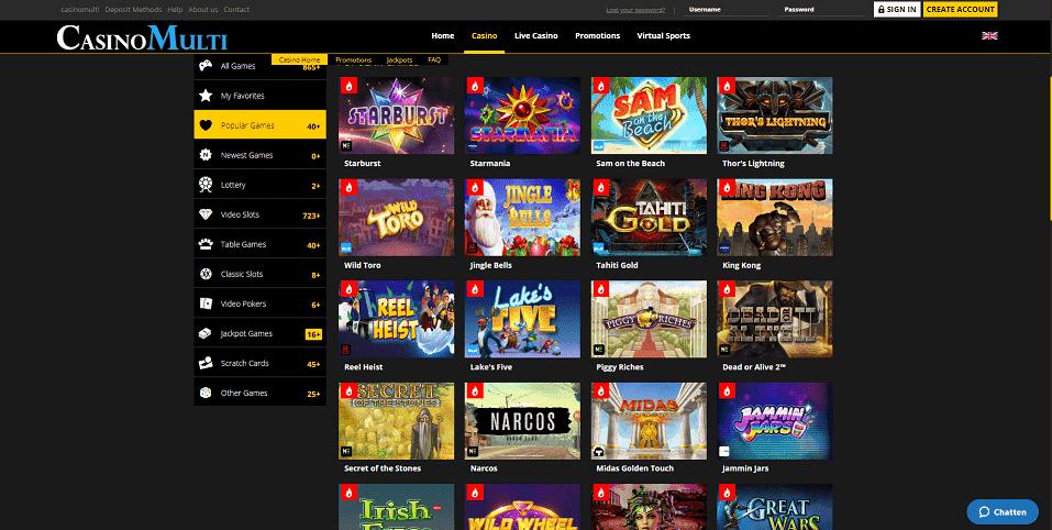 Casinomulti Games