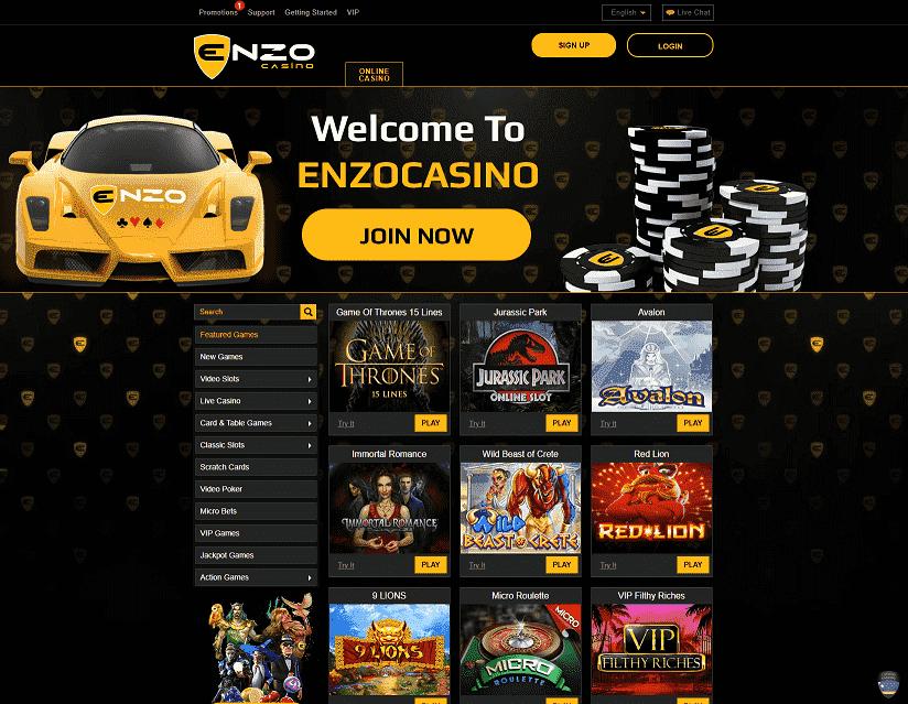 Enzo Casino Home