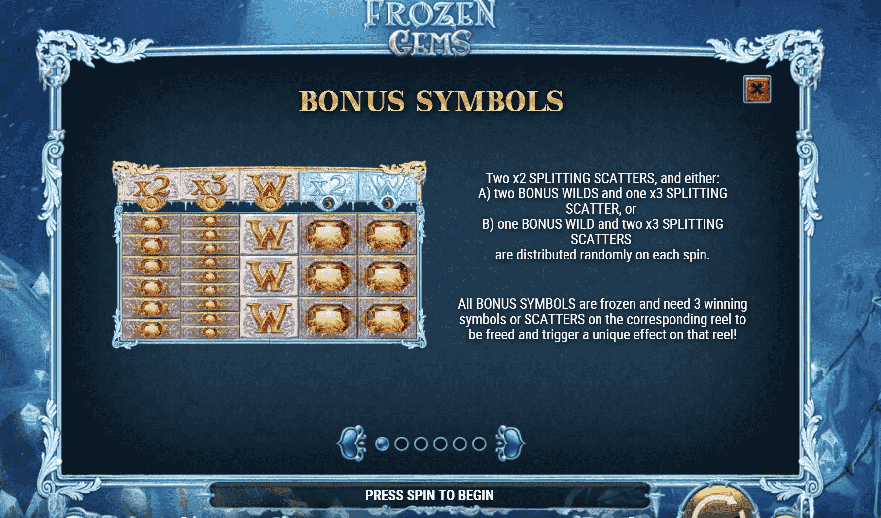 Frozen Gems Bonus Features