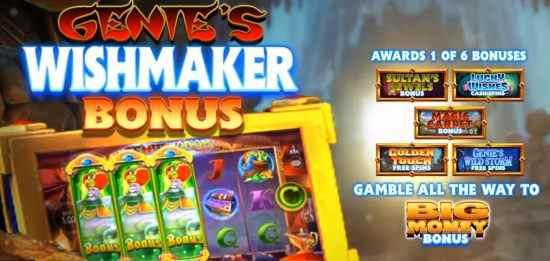 Genie Jackpots Wishmaker Bonus Features