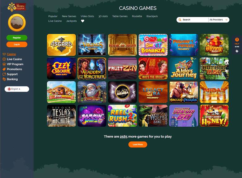 Monte Cryptos Games