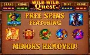 Wild Wild Quest Freespins Feature