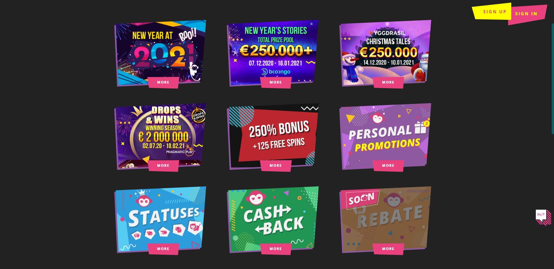 Booi Casino Promotions