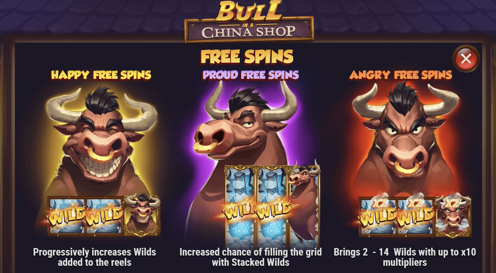 Bull in a China Shop Free Spins