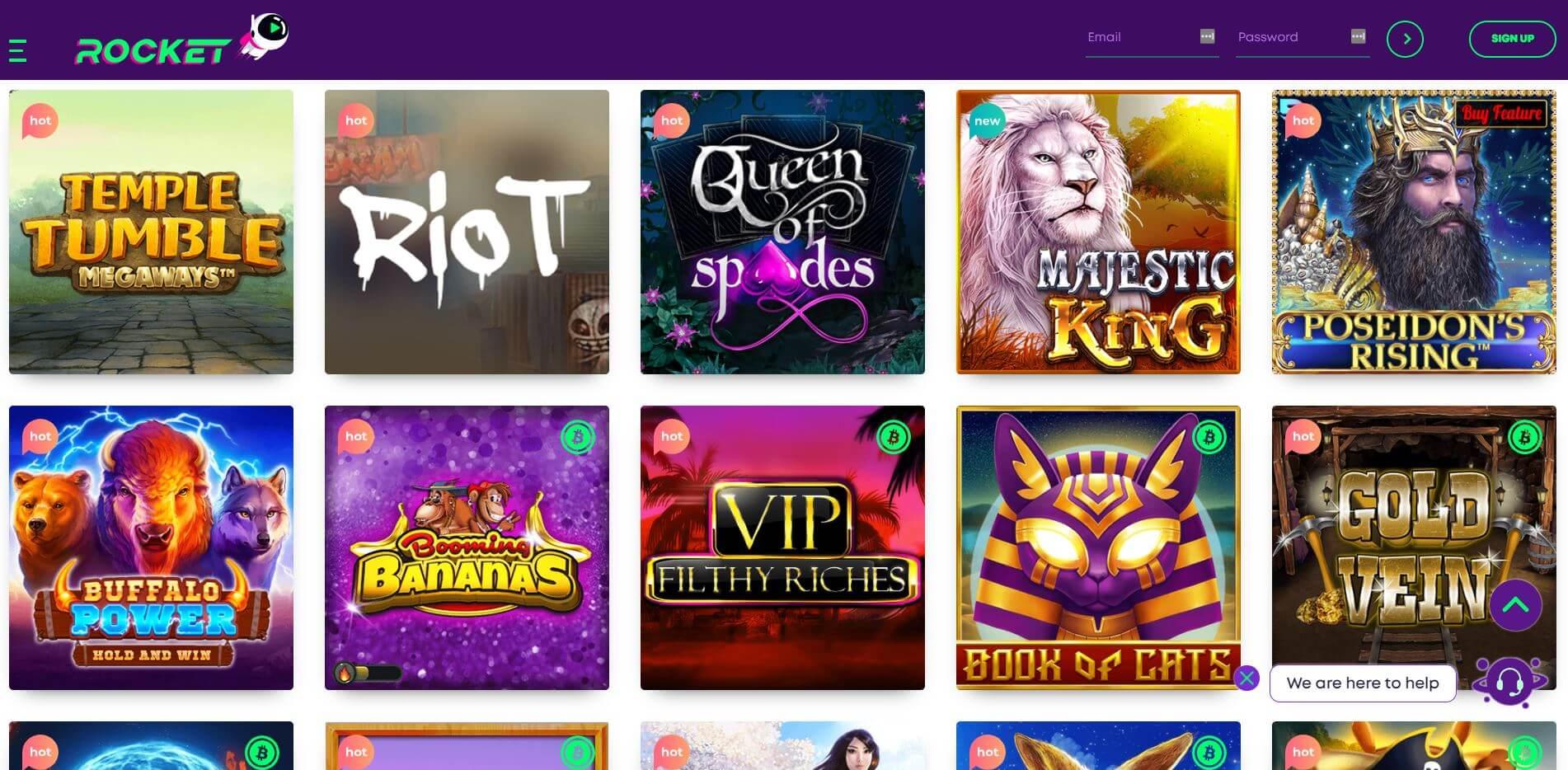 Casino Rocket Homepage