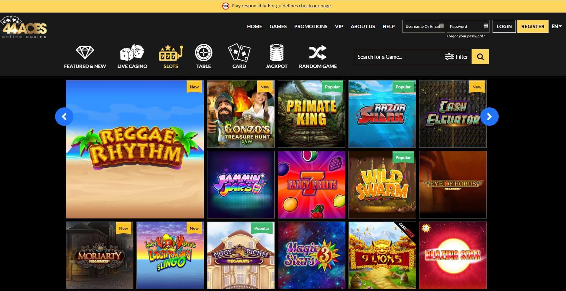 44Aces Casino Slots