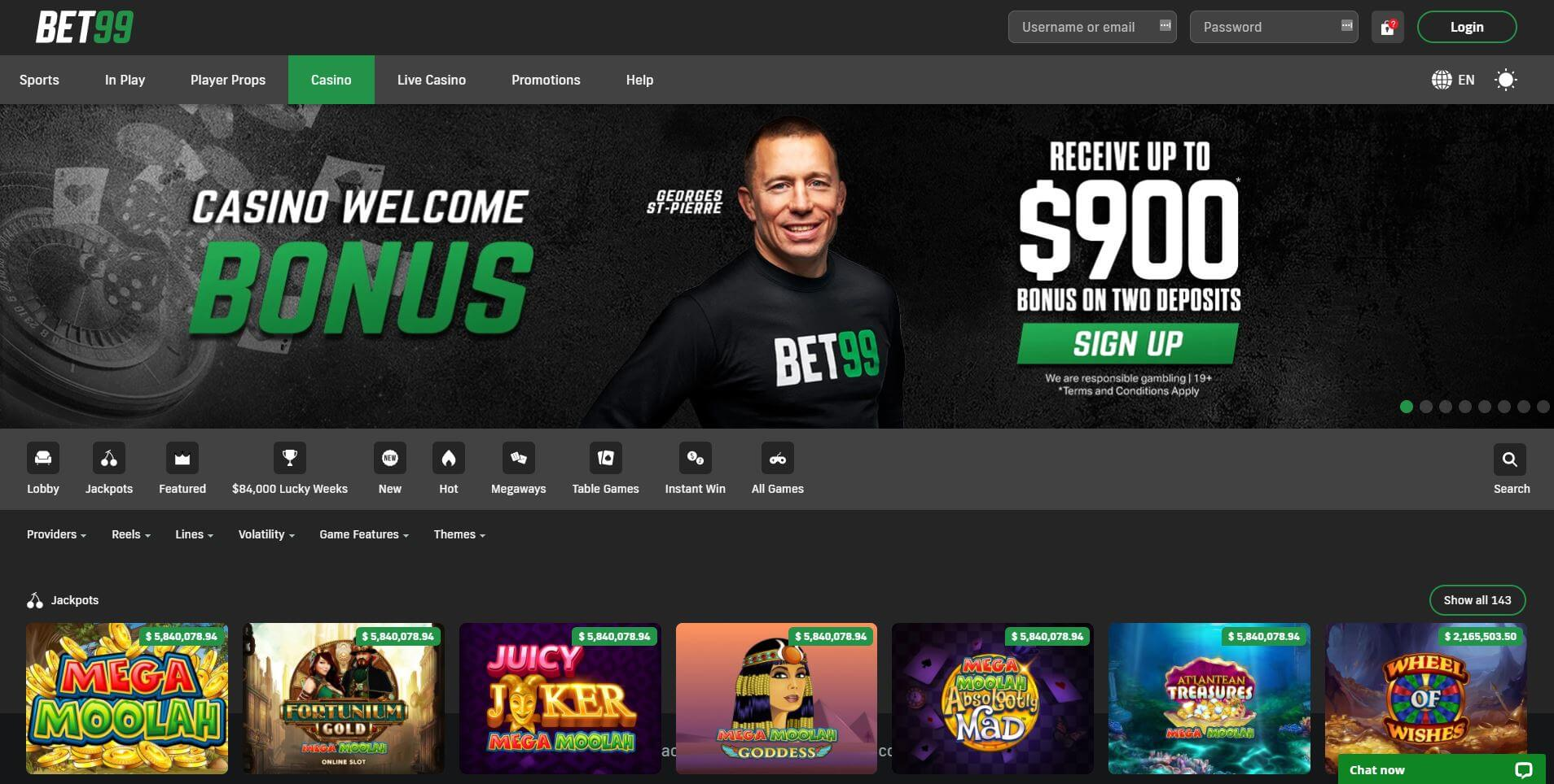 Bet99 Casino Games