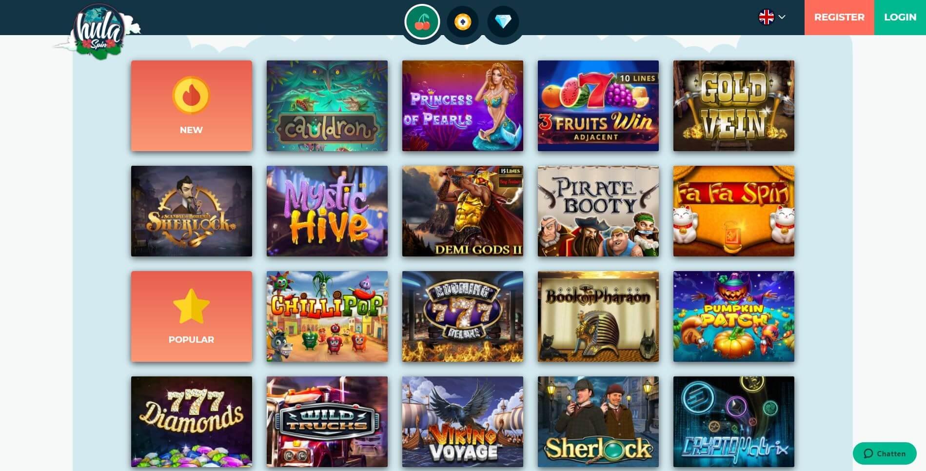 Hulaspin Casino Games