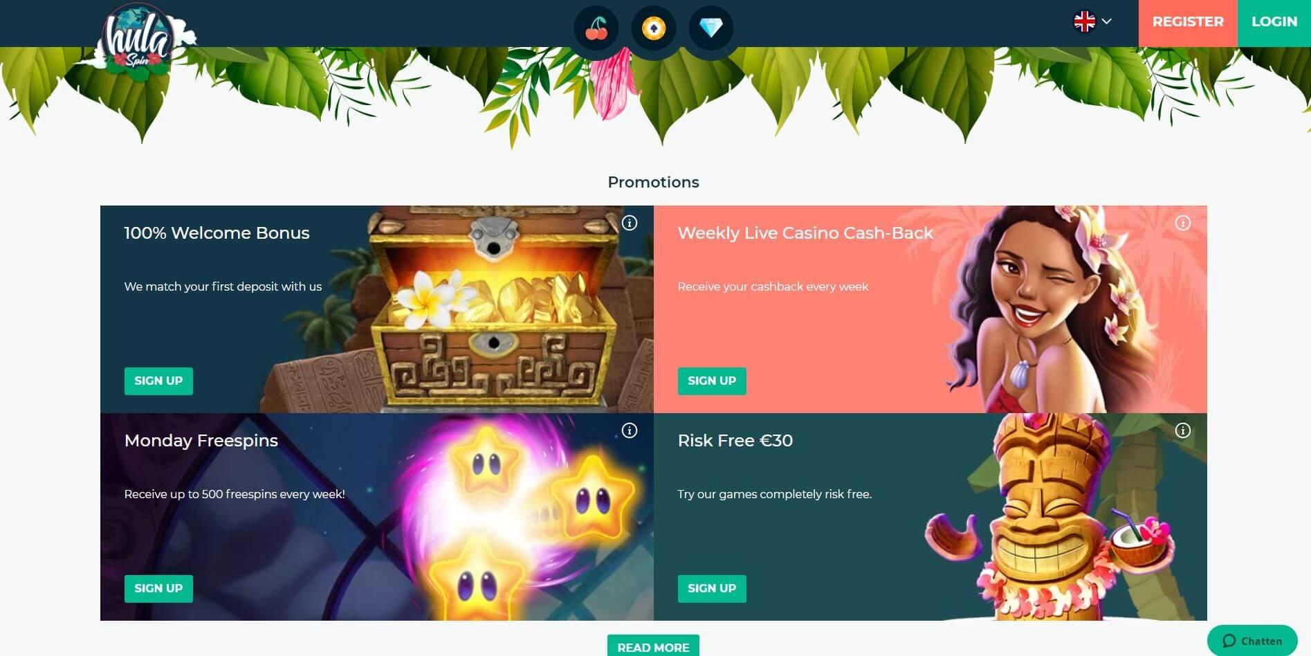 Hulaspin Casino Promotions