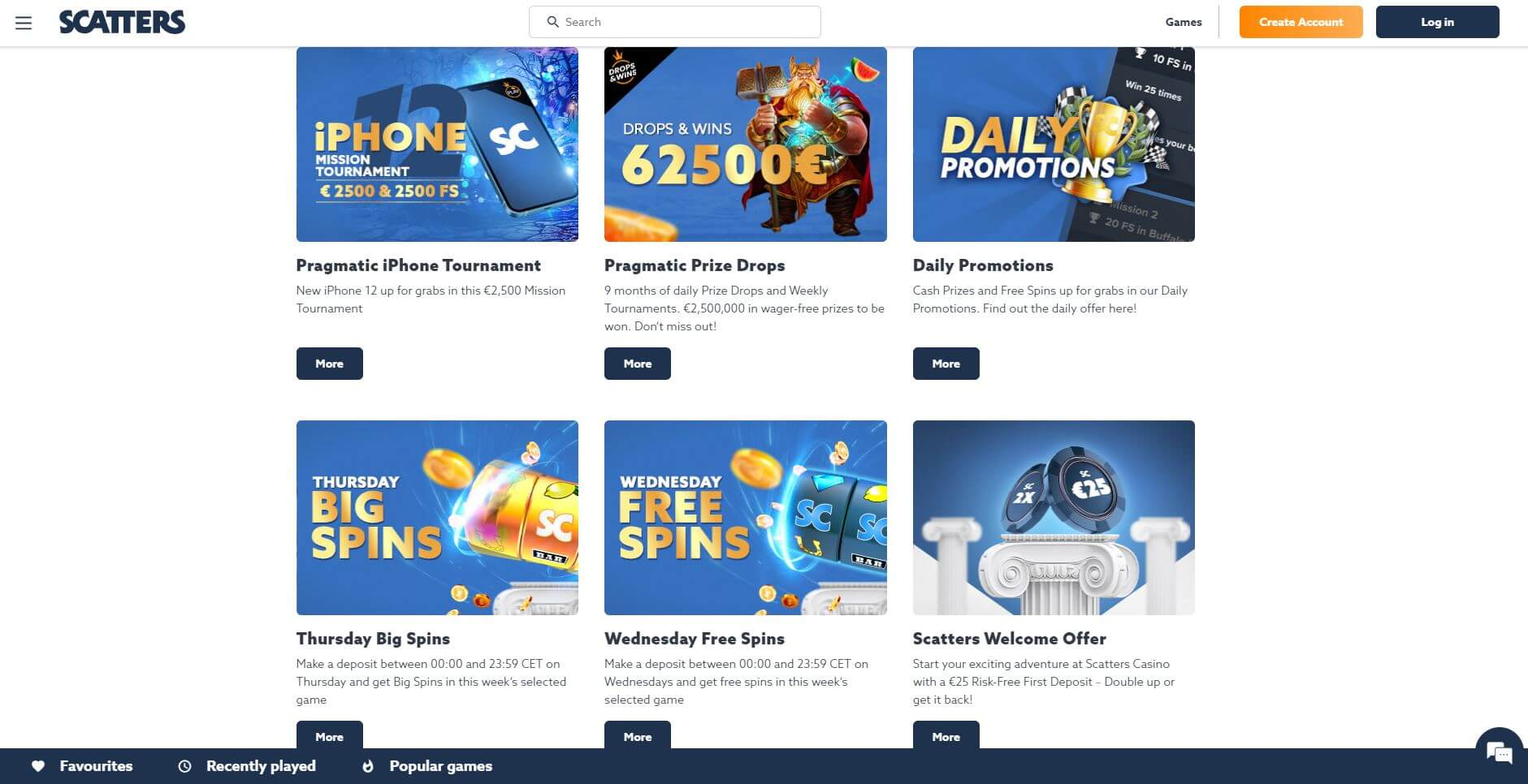 Scatters Casino Promotions