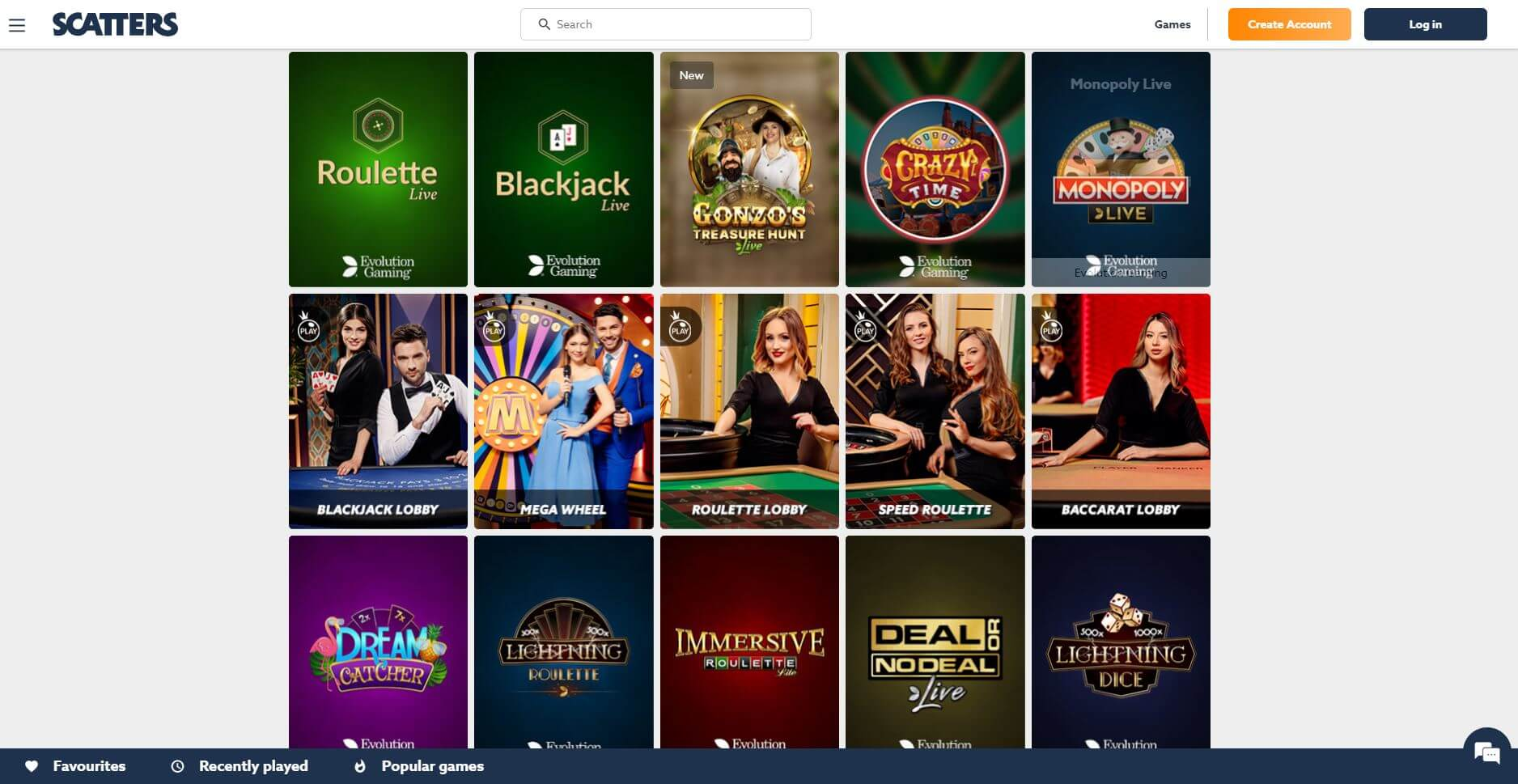 Scatters Live Casino