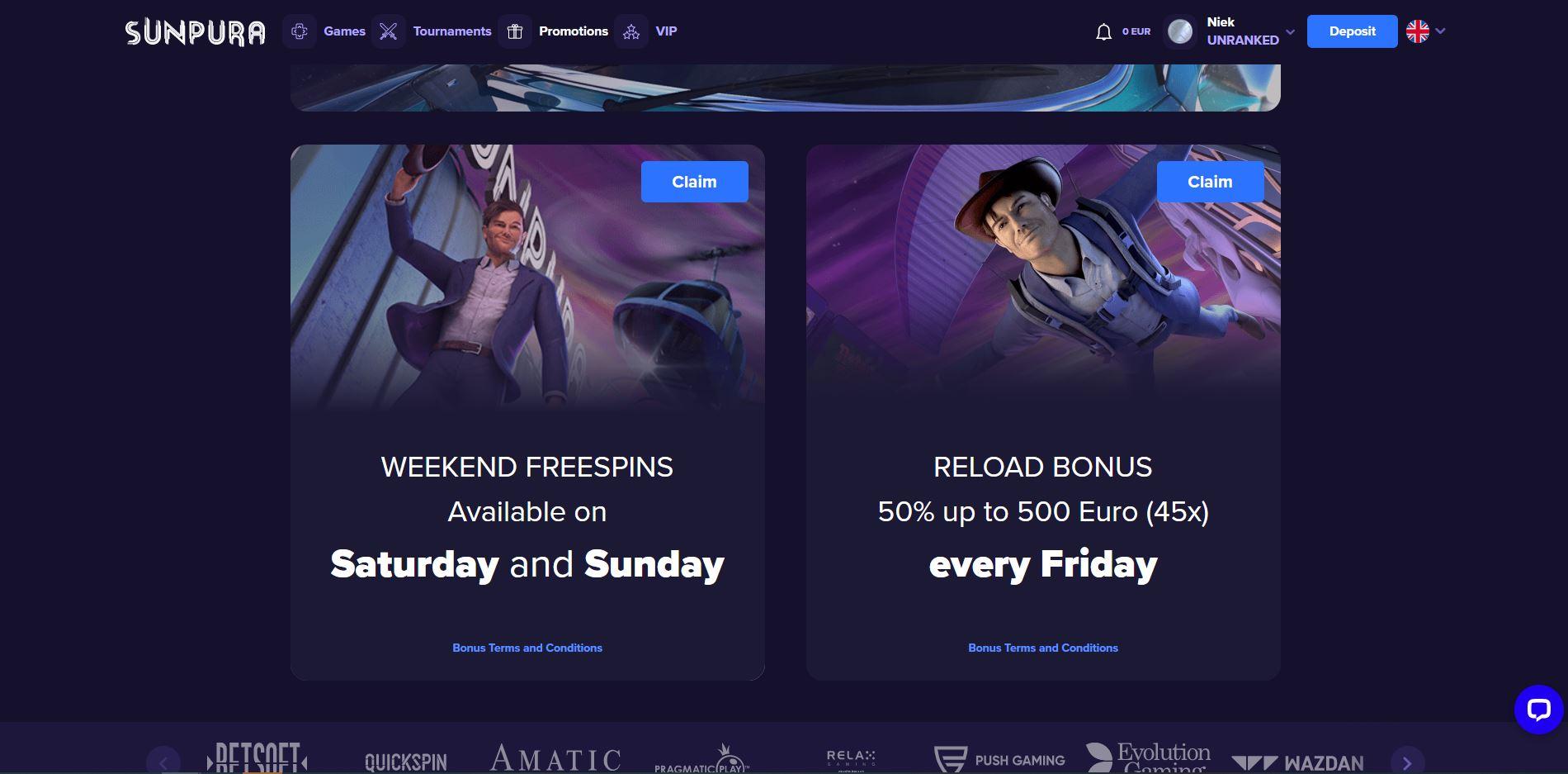 Sunpura Promotions Screenshot