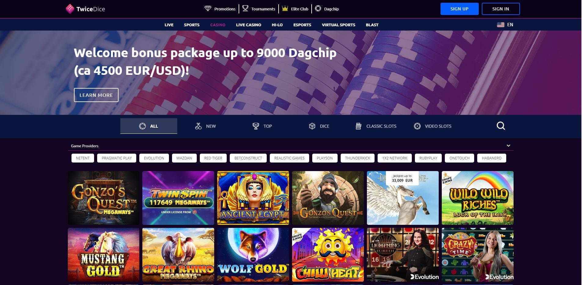 TwiceDice Casino Screenshot