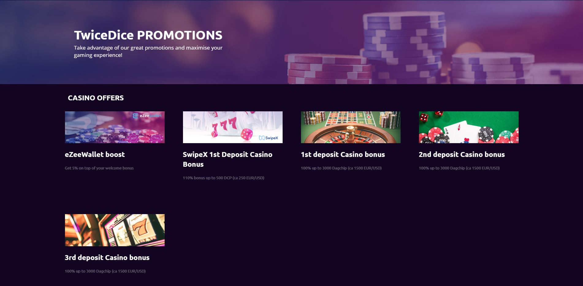 TwiceDice Promotions Screenshot